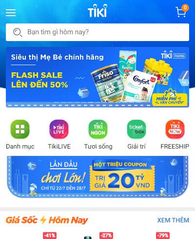 Cách nhận biết sản phẩm do TikiNGON phân phối trên app mobile