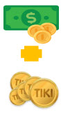 1 Tiki Xu bằng bao nhiêu tiền?