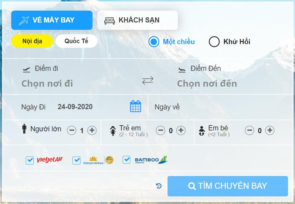 Cách đặt vé máy bay Tiki