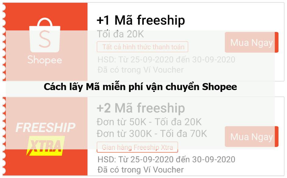 Cách lấy Mã miễn phí vận chuyển Shopee