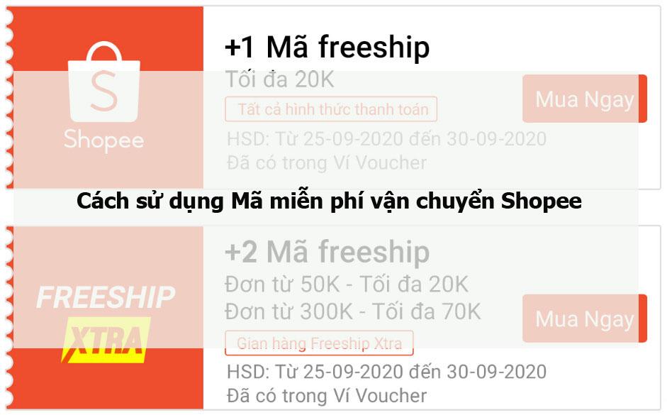 Cách sử dụng Mã miễn phí vận chuyển Shopee