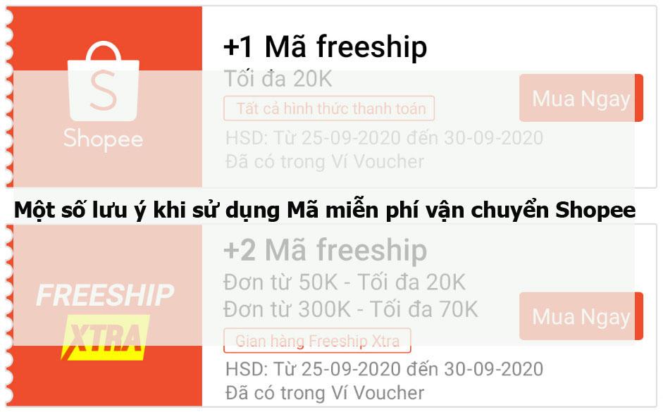 Một số lưu ý khi sử dụng Mã miễn phí vận chuyển Shopee