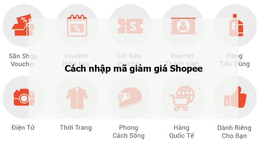 cách nhập mã giảm giá Shopee