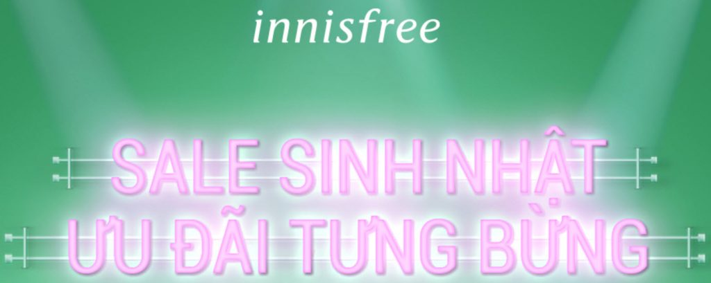 Mã giảm giá Innisfree Shopee