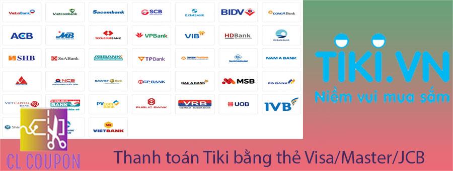 Thanh toán Tiki bằng thẻ Visa/Master/JCB
