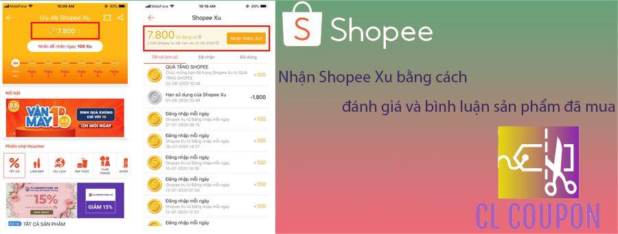 Nhận Shopee Xu bằng cách đánh giá và bình luận sản phẩm đã mua
